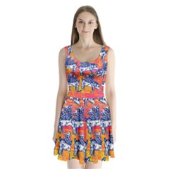 Little Flying Pigs Split Back Mini Dress