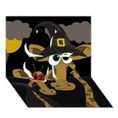 Giraffe Halloween party Clover 3D Greeting Card (7x5)