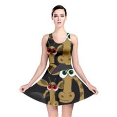 Giraffe Halloween party Reversible Skater Dress