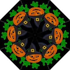 Halloween witch pumpkin Straight Umbrellas