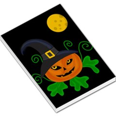 Halloween witch pumpkin Large Memo Pads