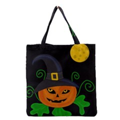 Halloween witch pumpkin Grocery Tote Bag