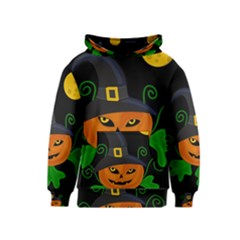 Halloween witch pumpkin Kids  Pullover Hoodie