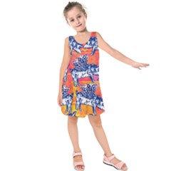 Little Flying Pigs Kids  Sleeveless Dress
