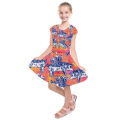 Little Flying Pigs Kids  Short Sleeve Dress