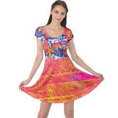 Little Flying Pigs Cap Sleeve Dress