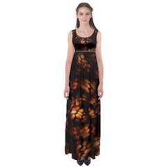 Fire Dragon Empire Waist Maxi Dress