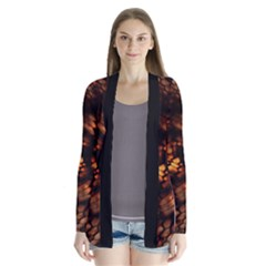 Fire Dragon Drape Collar Cardigan