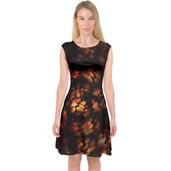 Fire Dragon Capsleeve Midi Dress