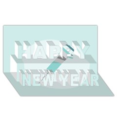 Injection Medical Syringe Medicine Happy New Year 3D Greeting Card (8x4)