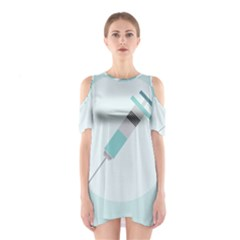 Injection Medical Syringe Medicine Cutout Shoulder Dress