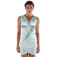 Injection Medical Syringe Medicine Wrap Front Bodycon Dress
