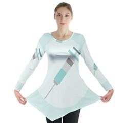 Injection Medical Syringe Medicine Long Sleeve Tunic