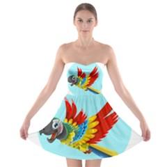 Parrot Strapless Bra Top Dress