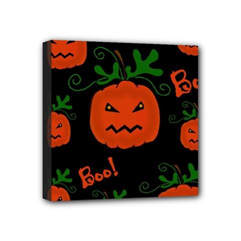 Halloween pumpkin pattern Mini Canvas 4  x 4