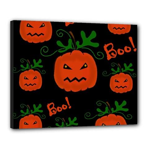 Halloween pumpkin pattern Canvas 20  x 16