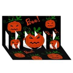 Halloween pumpkin pattern MOM 3D Greeting Card (8x4)