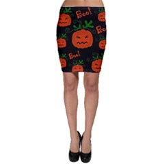 Halloween pumpkin pattern Bodycon Skirt