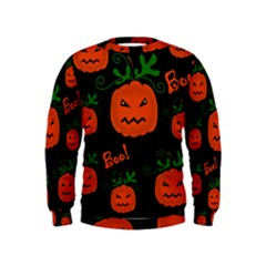 Halloween pumpkin pattern Kids  Sweatshirt