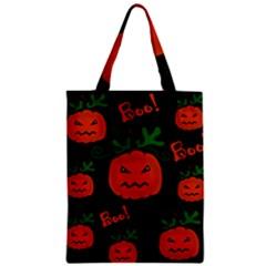 Halloween pumpkin pattern Zipper Classic Tote Bag