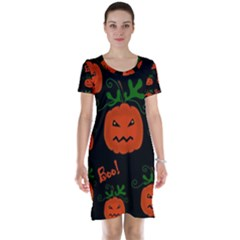Halloween pumpkin pattern Short Sleeve Nightdress