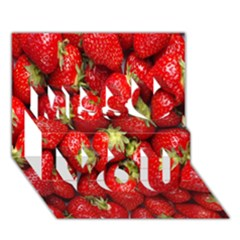 Red Fruits Miss You 3d Greeting Card (7x5)