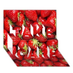 Red Fruits Take Care 3d Greeting Card (7x5)