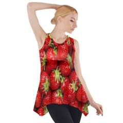 Red Fruits Side Drop Tank Tunic