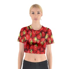 Red Fruits Cotton Crop Top