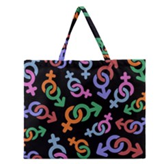 Sexsymbol Zipper Large Tote Bag