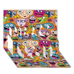 Smiley Pattern Miss You 3d Greeting Card (7x5)