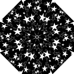 Star Black White Golf Umbrellas