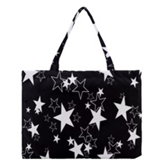 Star Black White Medium Tote Bag