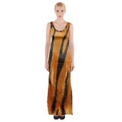 Tiger Maxi Thigh Split Dress