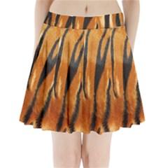 Tiger Pleated Mini Skirt