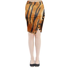 Tiger Midi Wrap Pencil Skirt