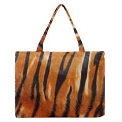 Tiger Medium Zipper Tote Bag