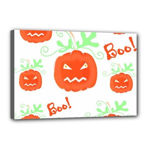 Halloween pumpkins pattern Canvas 18  x 12