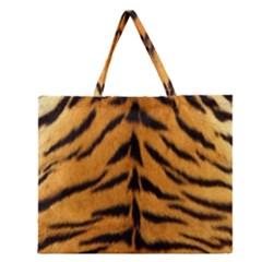 Tiger Skin Zipper Large Tote Bag
