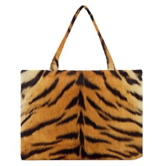 Tiger Skin Medium Zipper Tote Bag