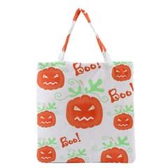 Halloween pumpkins pattern Grocery Tote Bag