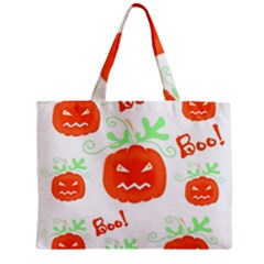 Halloween pumpkins pattern Mini Tote Bag