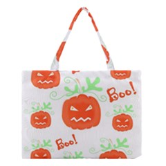 Halloween pumpkins pattern Medium Tote Bag