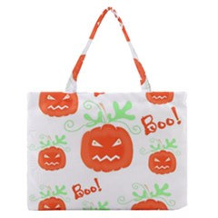 Halloween pumpkins pattern Medium Zipper Tote Bag