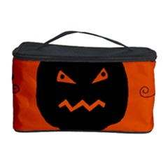 Halloween black pumpkins pattern Cosmetic Storage Case