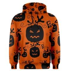 Halloween black pumpkins pattern Men s Pullover Hoodie