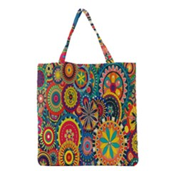 Tumblr Static Colorful Grocery Tote Bag