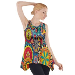 Tumblr Static Colorful Side Drop Tank Tunic