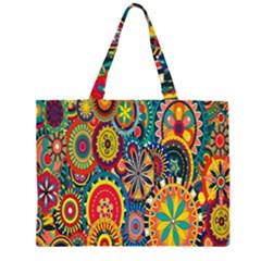 Tumblr Static Colorful Large Tote Bag