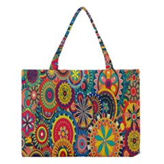 Tumblr Static Colorful Medium Tote Bag